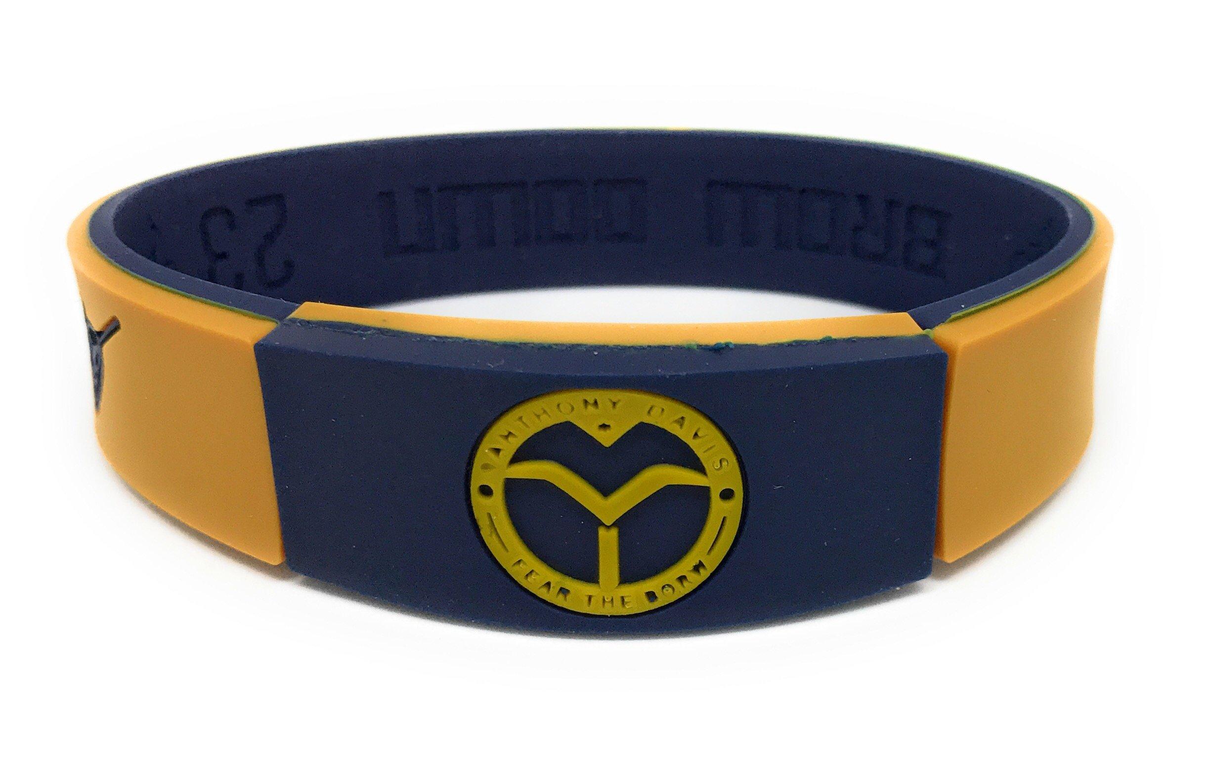 KIDS SportsBraceletsPro REVERSIBLE KIDS Wristband KIDS SIZE 6.7'' Size Bracelet (Davis KID 6.7'' Black/Gold)