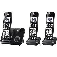 Panasonic Expandable Cordless Phone System KX-TGD513B 3 Sets Deals