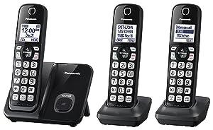 Panasonic KX-TGD513B Expandable Cordless Phone with Call Block - 3 Handsets