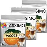 Tassimo Jacobs Latte Macchiato Caramel, Café, Capsule, Caramel, Café au Lait, 48T Disques/24portions