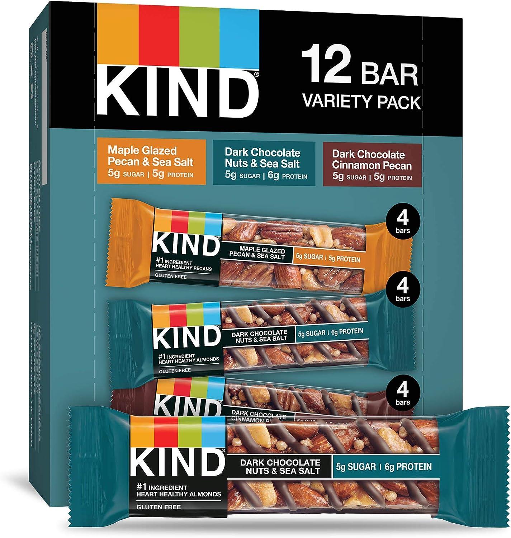 KIND Bars, Nuts and Spices Variety Pack, Gluten Free, 1.4 Ounce Bars, 12 Count: Amazon.es: Alimentación y bebidas