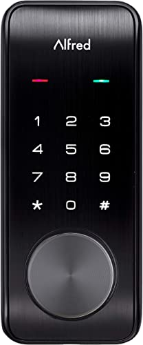 Alfred DB2-B Smart Door Lock Deadbolt Touchscreen Keypad
