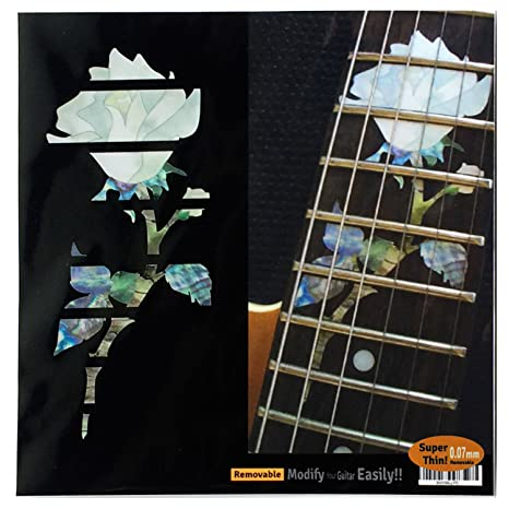 Pegatinas para guitarra con incrustaciones de marcadores de diapasón, rosa