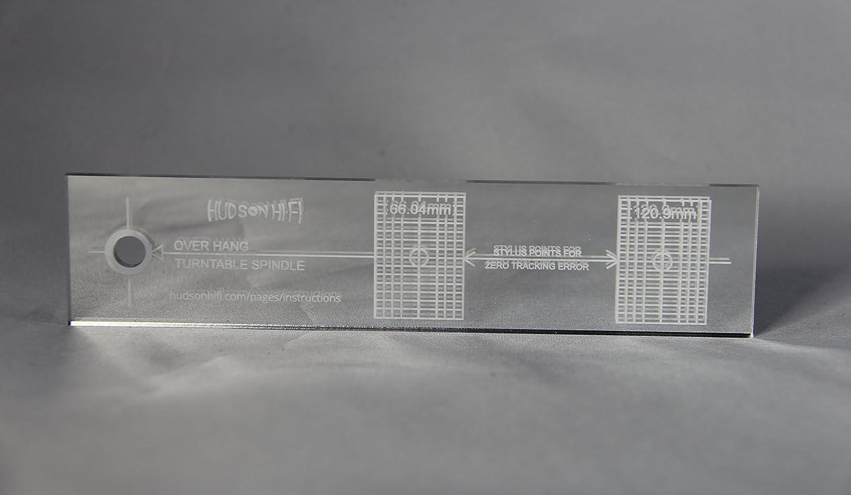 Turntable Phonograph LP Phono Cartridge Stylus Alignment Protractor Tool Mirrored