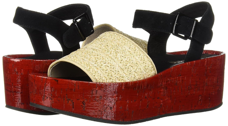 Kenneth Cole New York Women's Danton Platform Espadrille Wedge Sandal B07C3BDBSF 6.5 B(M) US|Red/Multi