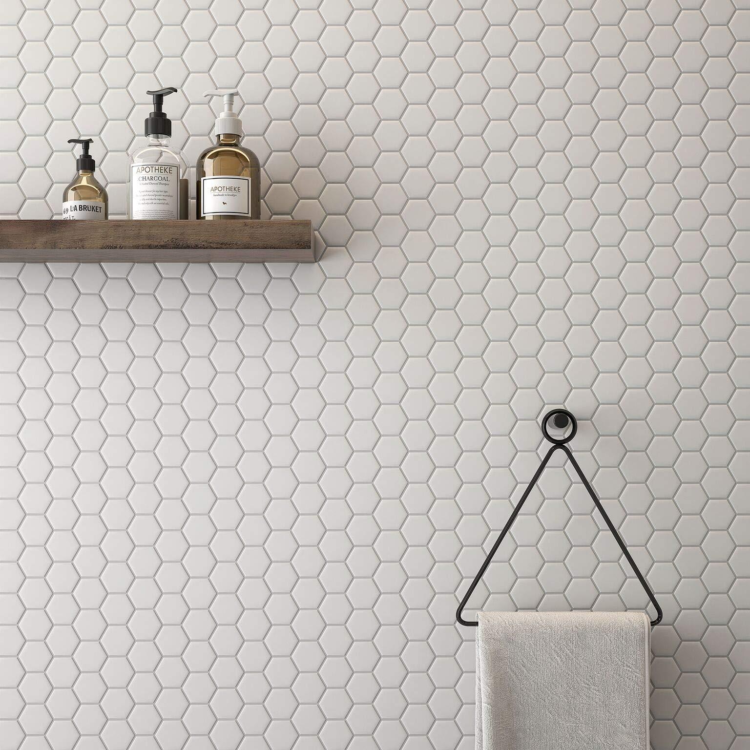 1 Carton/20 SQFT | 2'' Hexagon Mosaic Tile - White (Matte)