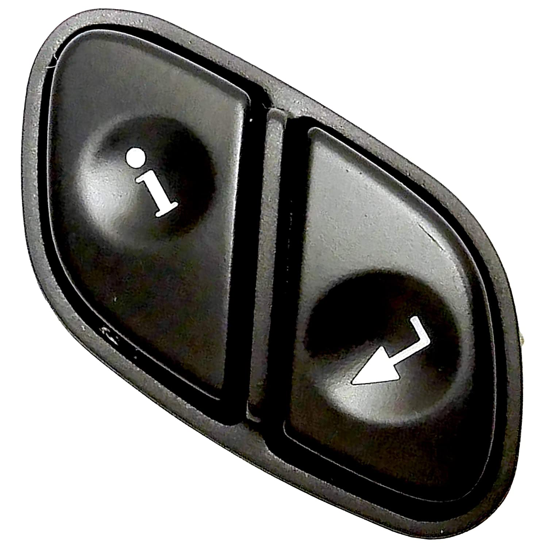 Apdty 012232 Driver Information Switch Info Enter Button Chevy Avalanche Transfer Case Mounts In Steering Wheel Fits Rainier Escalade Silverado Suburban Tahoe