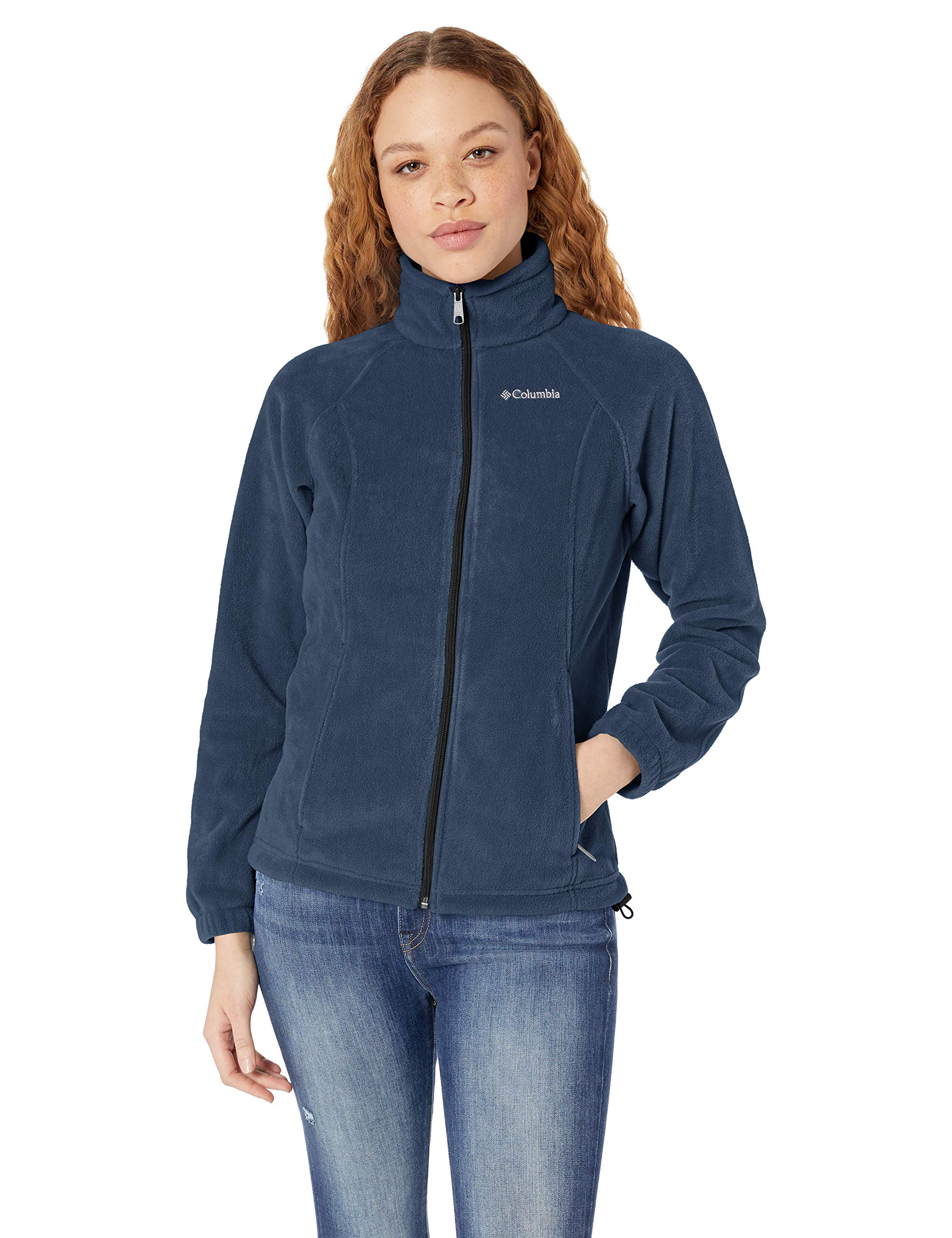 Columbia Women's Benton Springs Full Zip Jacket, Soft Fleece with Classic Fit, Navy, Medium by Columbia