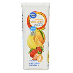 Great Value: Strawberry Orange Banana 6 Tubs Drink Mix, (Pack of 2)