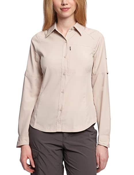 ac5a80b2091 Columbia Women's Silver Ridge Long Sleeve Shirt, X-Small, Fossil