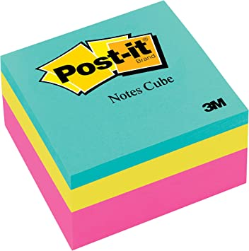 Asst Colour Post Labels Paper It 400 Sheet Sticky Note Cube