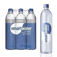 smartwater Antioxidant Selenium, Purely Balanced Ph Vapor Distilled Premium Water, 33.8 Fl Oz, Pack of 6