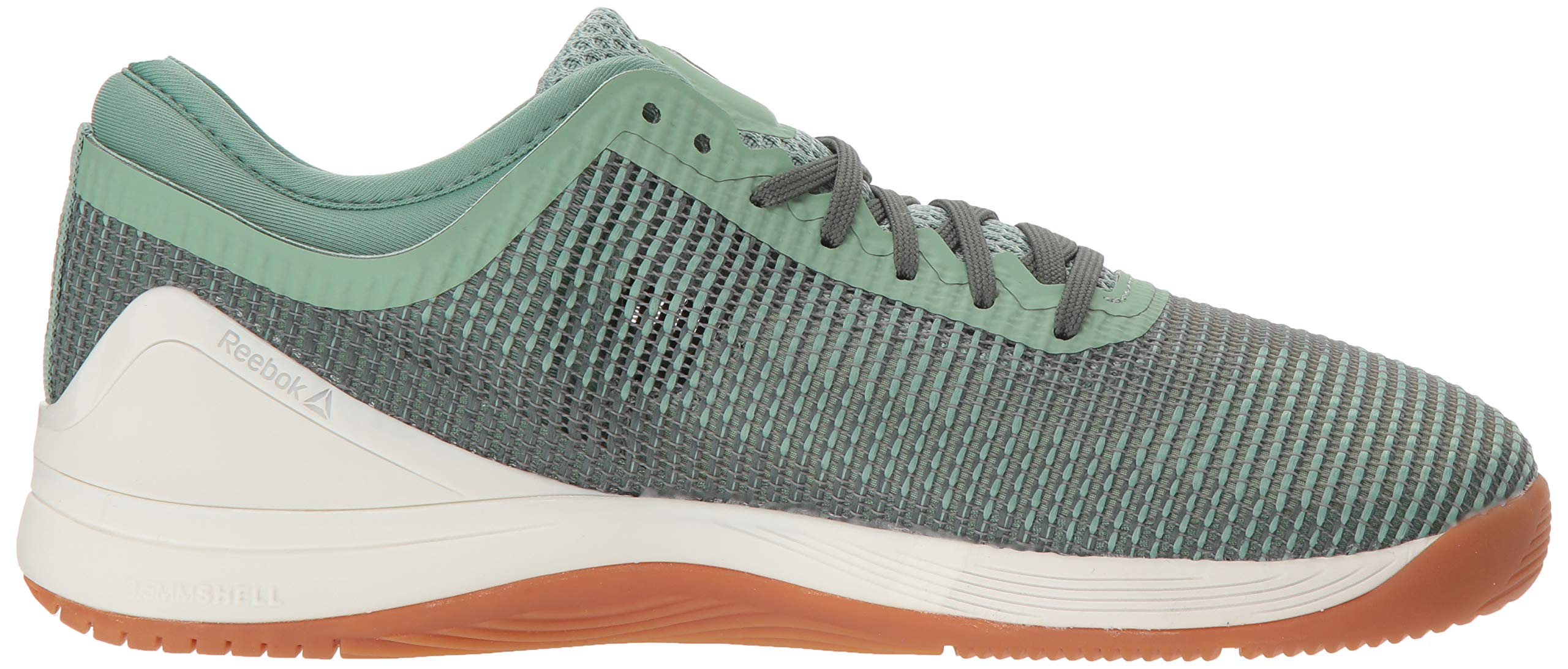Reebok Women's CROSSFIT Nano 8.0 Flexweave Cross Trainer, industrial green/chalk grey, 5 M US by Reebok (Image #7)