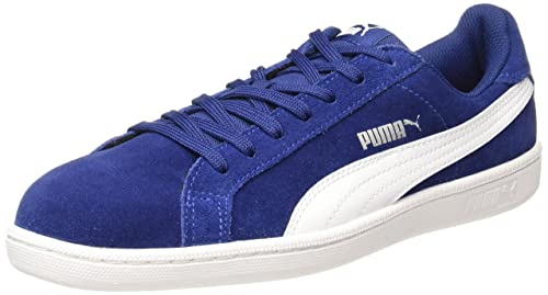 7f382a63dc1 Puma Men s Smash Sd Blue Depths-White Leather Sneakers - 10 UK India (