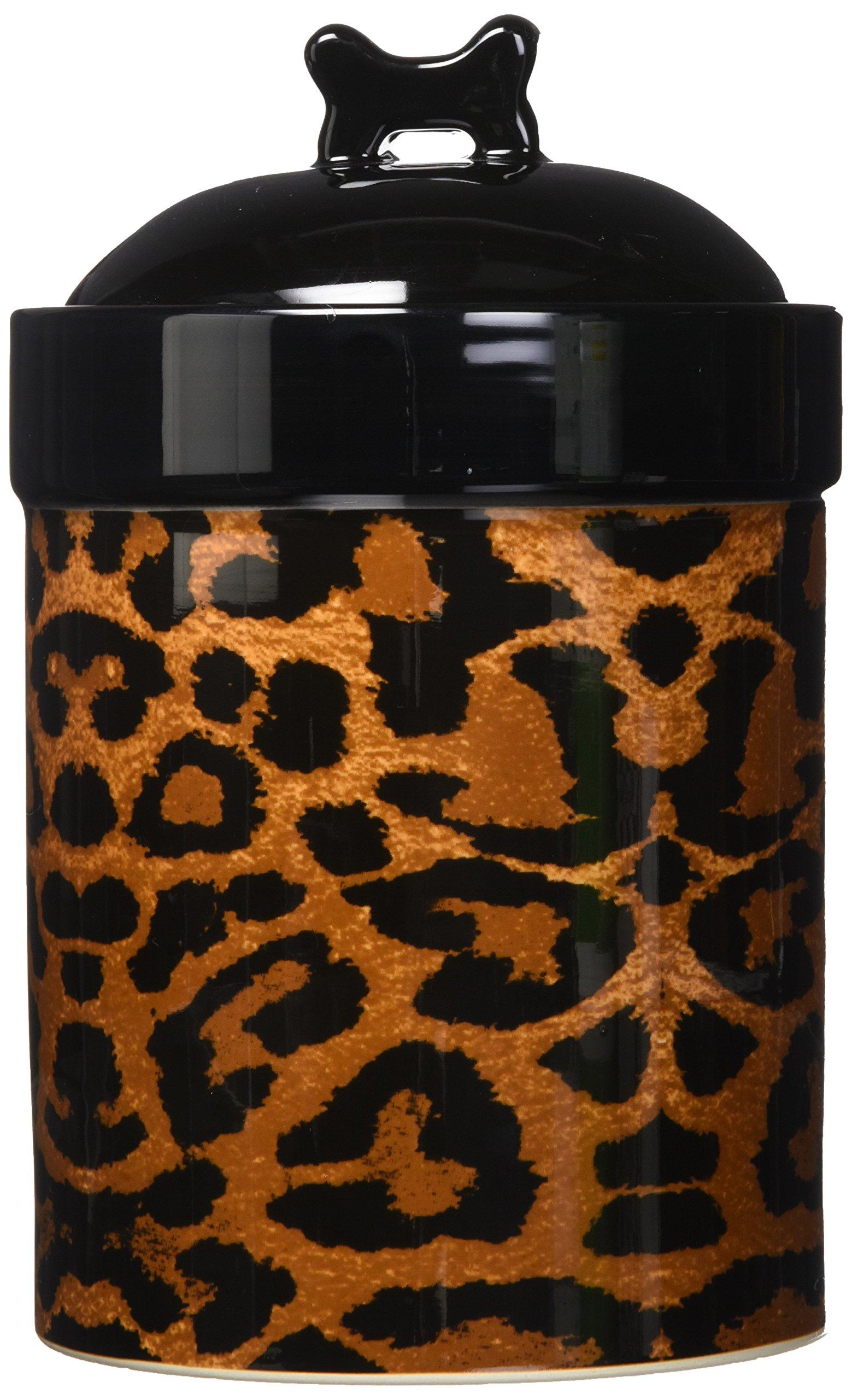 PetRageous Leopard Treat Jar for Pets, 8-Inch