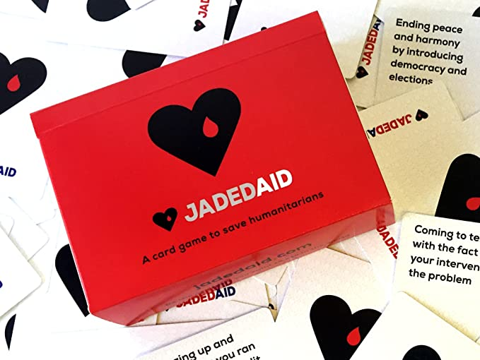 Amazon jadedaid a card game to save humanitarians toys games reheart Gallery