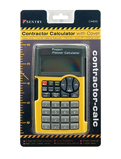 amazon com sentry contractor calculator with cover black yellow