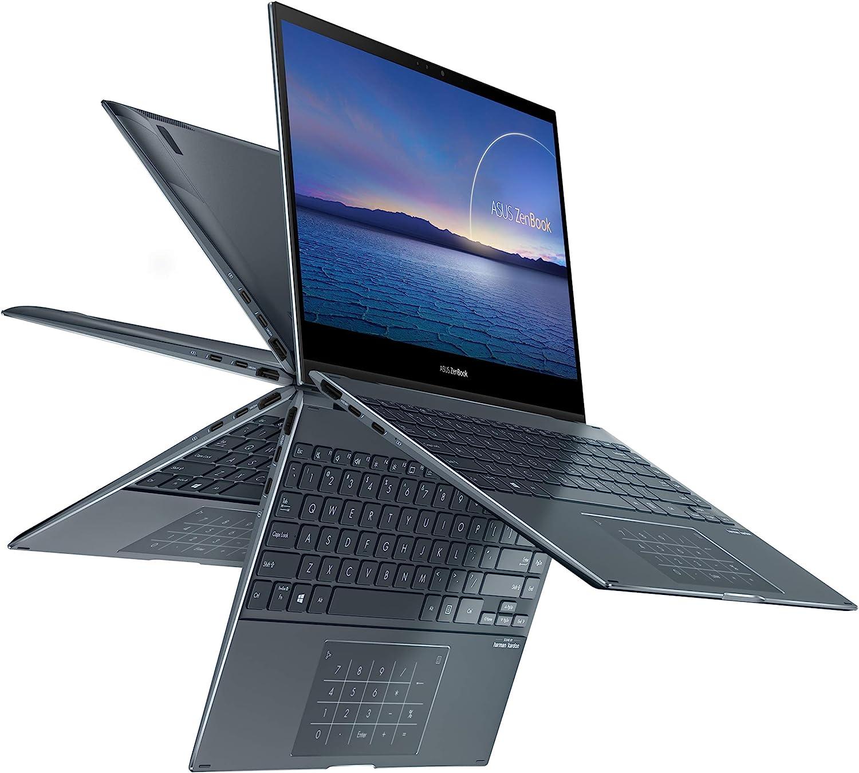 "ASUS ZenBook Flip 13 Ultra Slim 2-in-1 Laptop, 13.3"" FHD Touchscreen Display, Intel Core i7-1065G7 Processor, 16GB RAM, 512GB PCIe SSD, Thunderbolt 3, Windows 10 Pro, Pine Grey, UX363JA-XB71T"