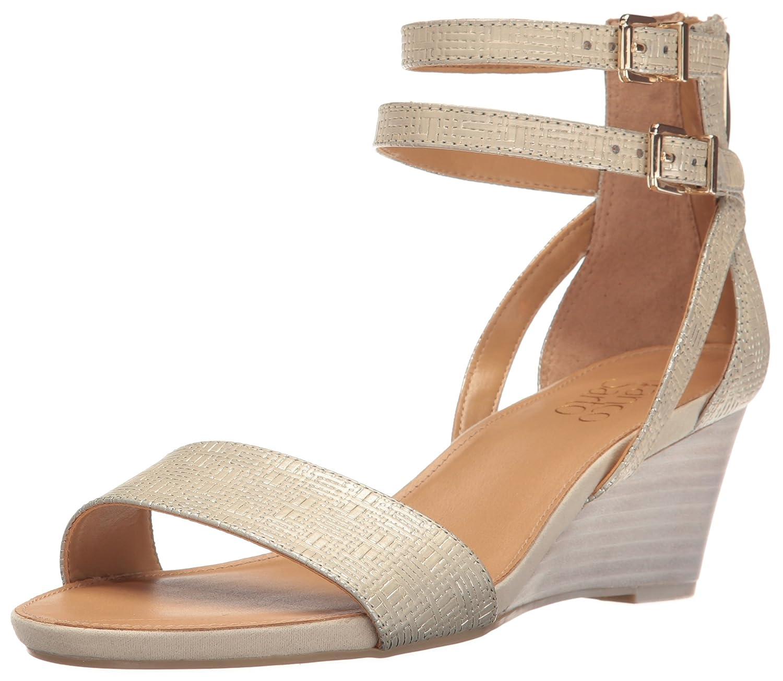 Franco Sarto Women's Danissa Wedge Sandal B01MXEP0BS 11 B(M) US|Platinum