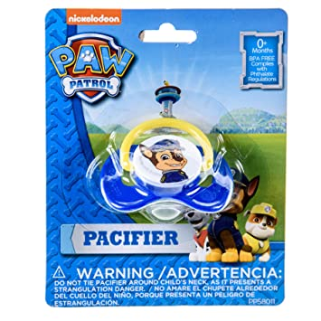 Amazon.com : Paw Patrol Pacifier BPA-Free 1-Pack Blue Paci for Baby ...