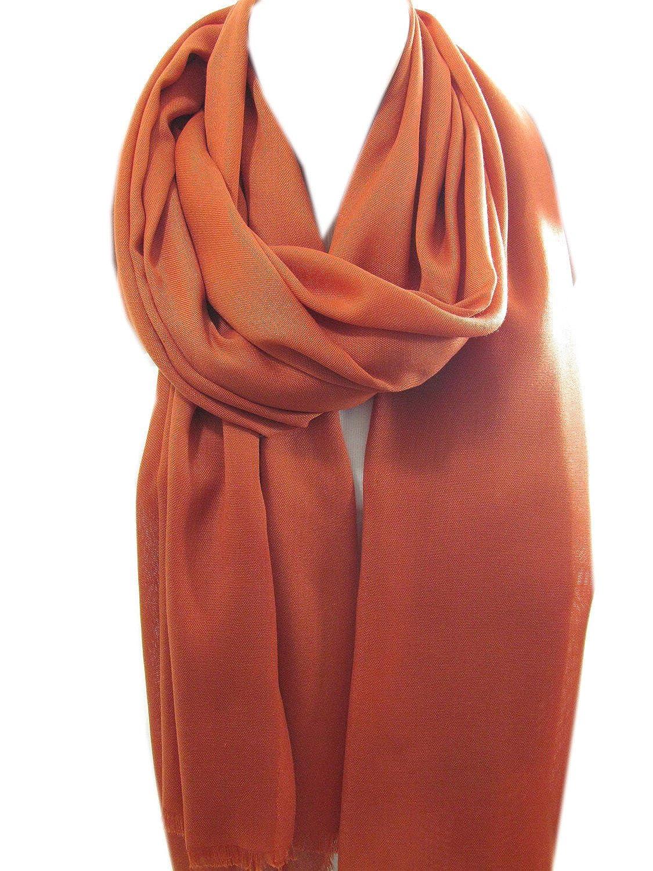 Pashmina Scarf Shawl Cinnamon Brown Infinity Scarf | SCARFCLUB