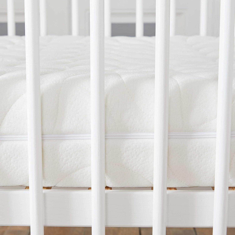 Transpirable 60 x 120 cm Natural Antiasfixia Desenfundable Babysom Altura 14 cm Colch/ón Cuna Beb/é Bamb/ú Reglaje T/érmico Anti/ácaros
