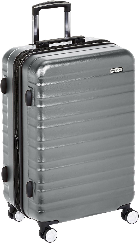 AmazonBasics - Maleta rígida de alta calidad, con ruedas y cerradura TSA incorporada - 78 cm, Gris
