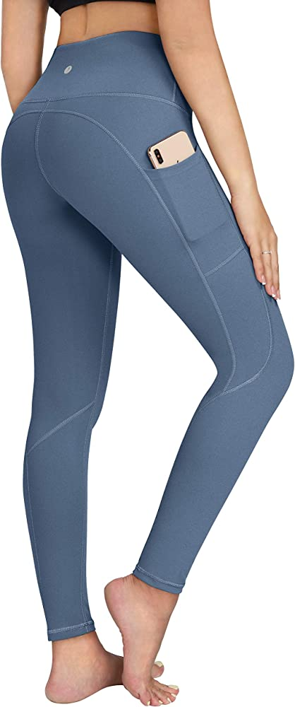 Tummy Control Workout Pants for Women ESPIDOO Womens High Waisted Yoga Pants 4 Way Strench Leggings with Pockets