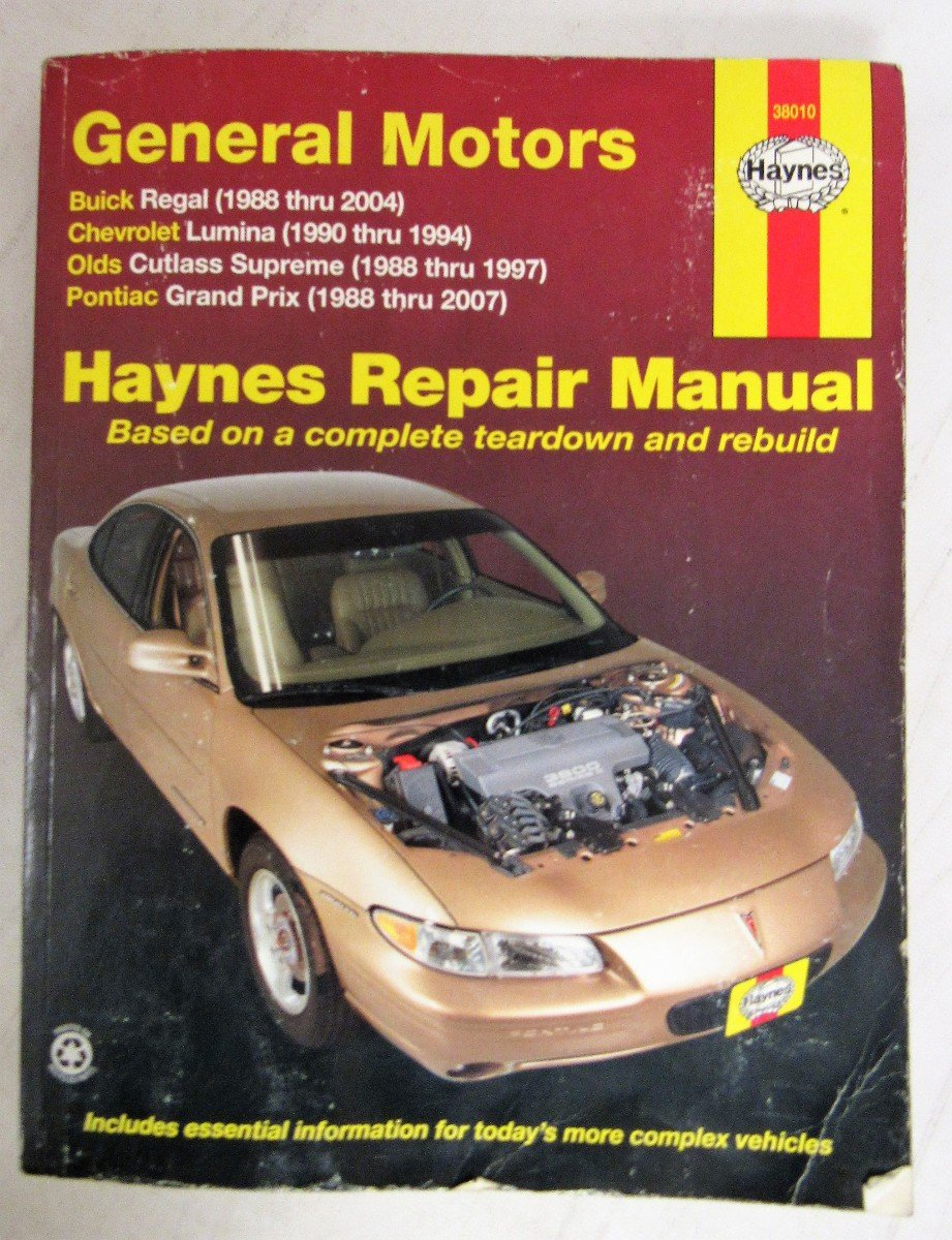 Amazon.com: by unknow General Motors Buick Regal, Chevrolet Lumina,Olds  Cutlass Supreme,Pontiac Grand Prix, 1988-2007 (Hayne's Automotive Repair  Manual) ...