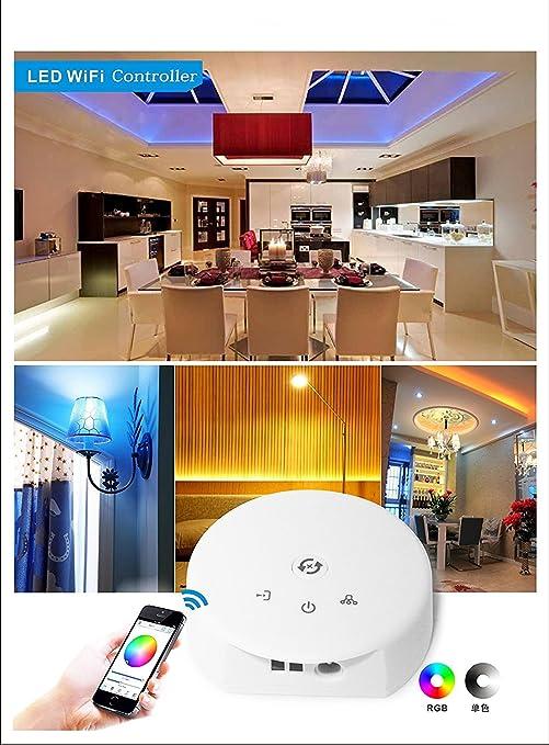 XCSOURCE DC 12V 24V Magic LED WIFI Controller für RGB RGBW RGBWW LED Lichtstreifen IOS oder Android System Smartphone Steueru