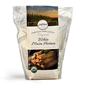 Gold Mine White Corn Masa Harina - USDA Organic - Macrobiotic, Vegan, Kosher and Gluten Free Flour for Healthy Mexican Dishes - 2 LBS