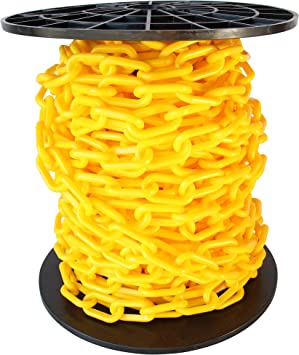 RCH Hardware CH-P55-06-YEL-3 Plastic Barrier Chain 3 Feet Yellow
