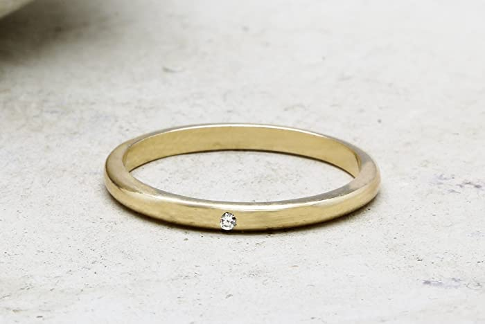 Amazon Com Crystal Quartz Ring Stack Ring Thin Band Ring Wedding