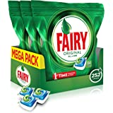 Fairy Original All-in-One Dishwasher Tablets, 84 Per Pack (Pack of 3, 252 Tablets)