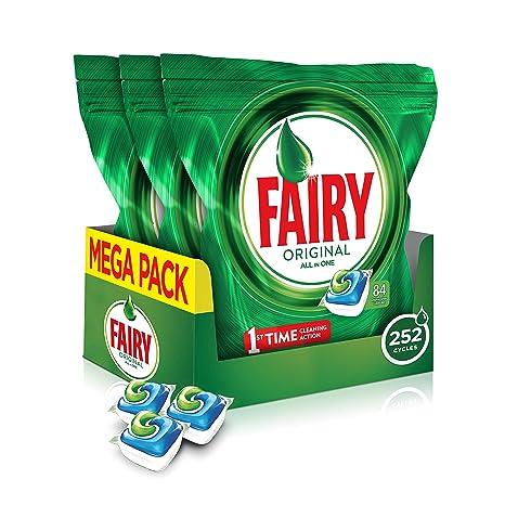 Cápsulas para lavavajillas All-In-One de Fairy, 252 unidades ...