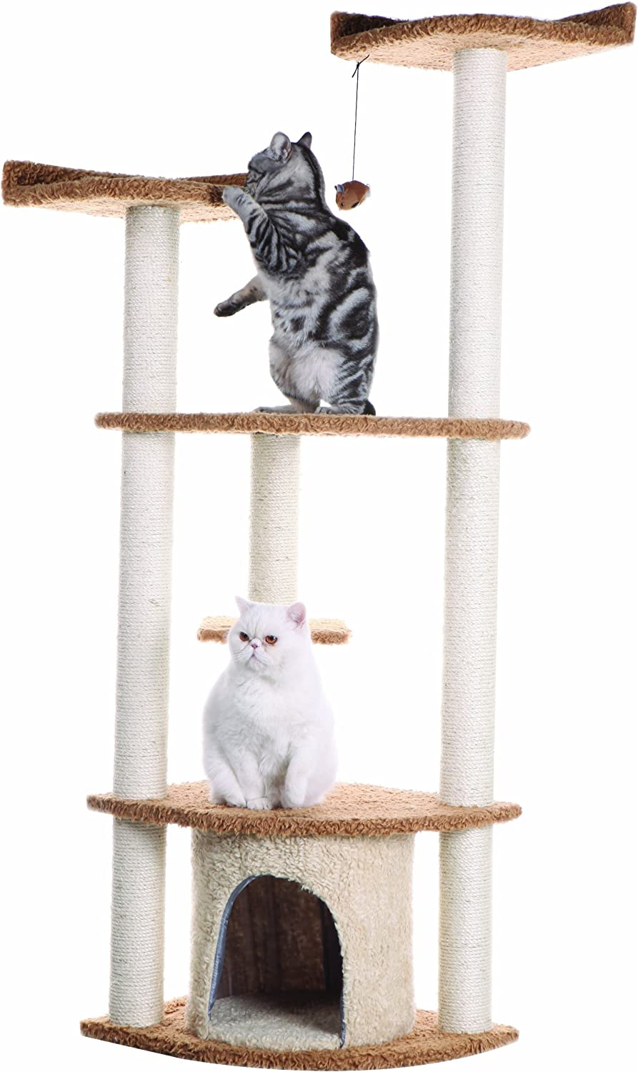 Armarkat 64 in Cat Tree House Condo Furniture - A6402, Chocolate