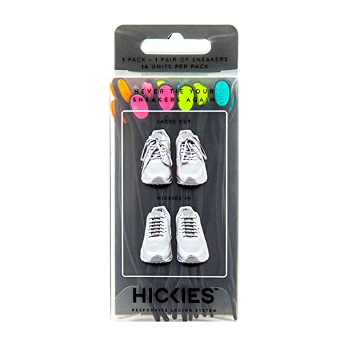 4341c5633ef0 HICKIES 1.0 One Size Fits All Elastic Lacing System - Black Multicolor (14  HICKIES Shoelaces