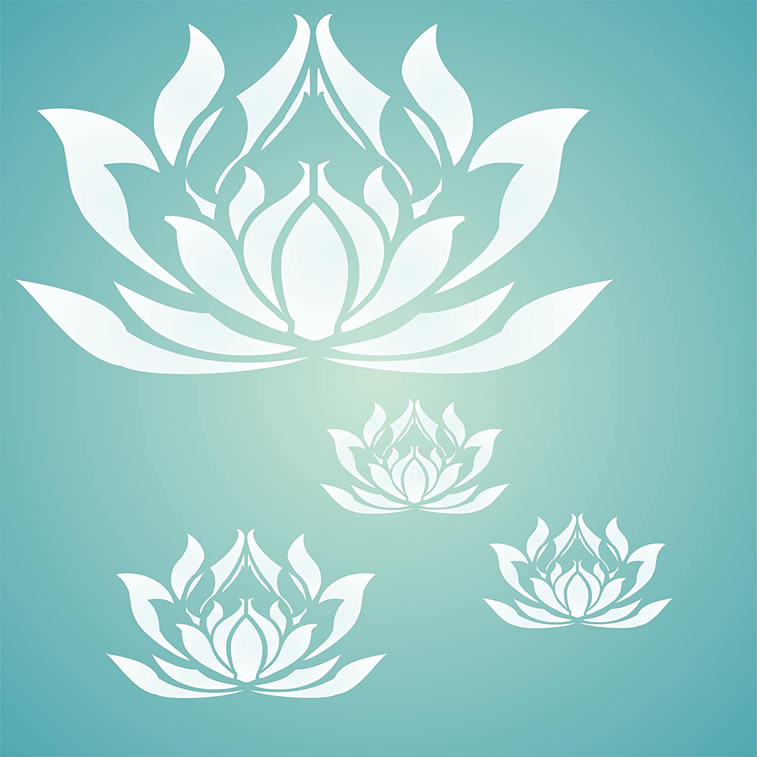 Amazon lotus flower stencil size 5w x 3h reusable wall amazon lotus flower stencil size 5w x 3h reusable wall stencils for painting best quality lotus blossom ideas use on walls floors fabrics izmirmasajfo Choice Image