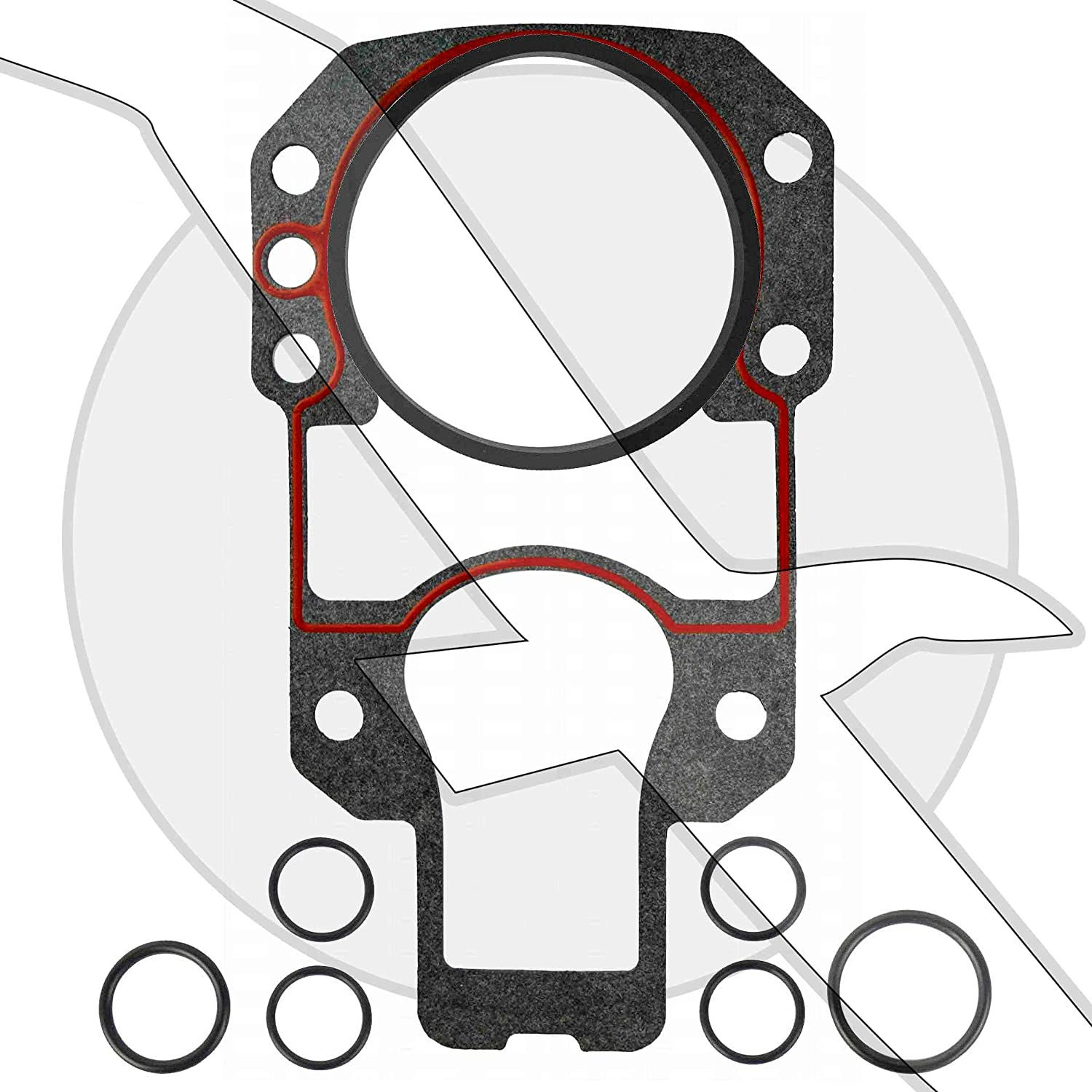 Sterndrive Outdrive Mounting Gasket Set Kit for Mercruiser Alpha One Drive replaces 27-94996Q2