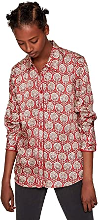 Pepe Jeans Camisa Domenica Estampado Rojo Mujer: Amazon.es ...