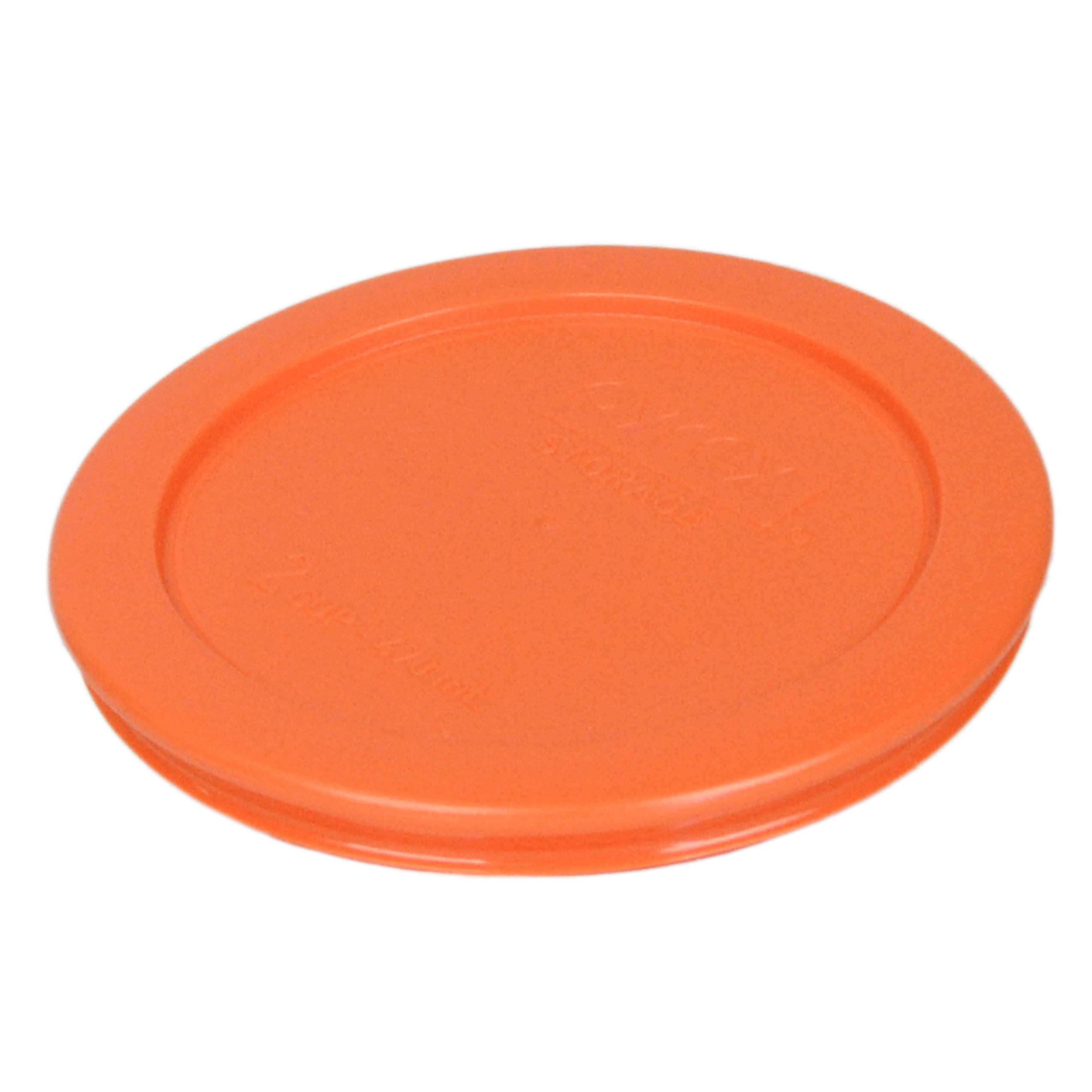 Pyrex 7200-PC Round 2 Cup Storage Lid for Glass Bowls (6, Orange) by Pyrex (Image #3)