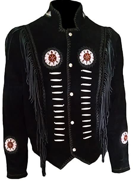 classyak Hombres de Western Cowboy Flecos y deshuesada ante piel Alta calidad Chaqueta: Amazon.es: Ropa y accesorios