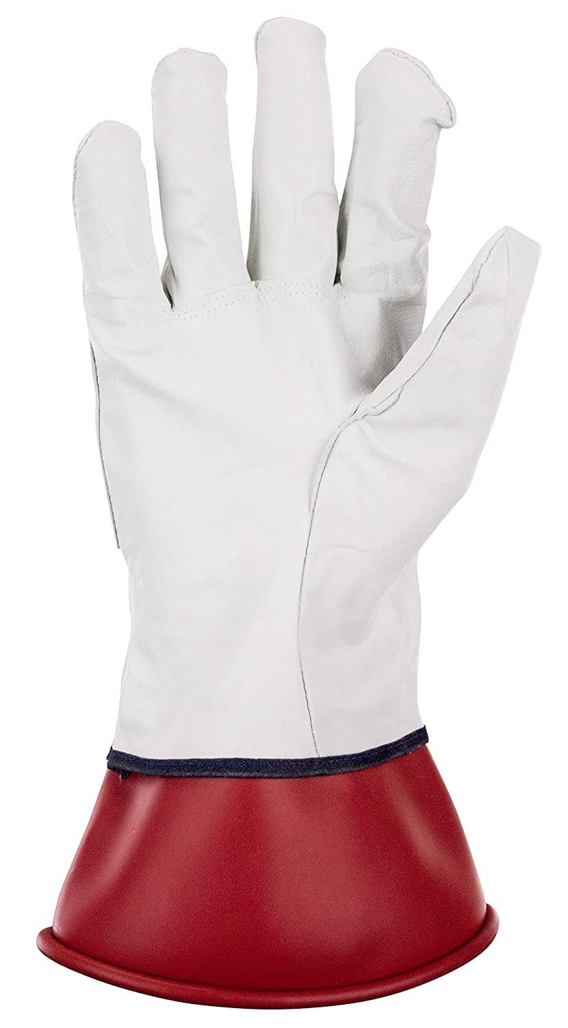 SAS Safety 6467 Leather Protective Over Gloves For Electice Service Gloves Medium SAS Safety Corp.