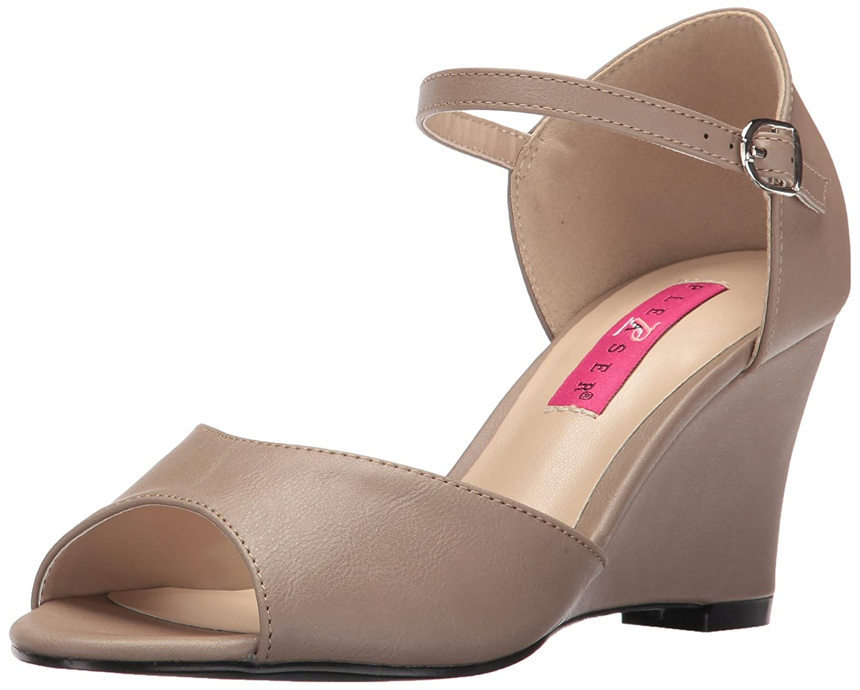 Pleaser Women's Kim05/Tppu Wedge Sandal B06XGJWCTH 9 B(M) US|Taupe Faux Leather