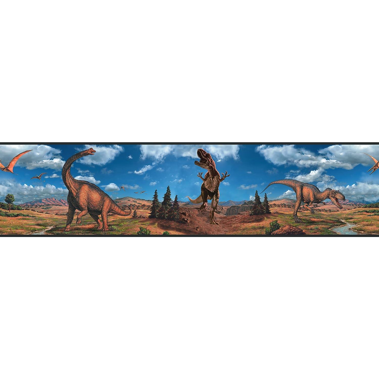 RoomMates - Wandsticker Dinosaurier Bordü re 12, 8 cm x 4, 5 m RMK1042BCS