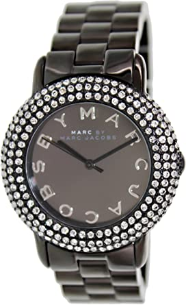 1adfe1f994331 Amazon.com: Marc by Marc Jacobs Crystal & Blackened Stainless Steel ...