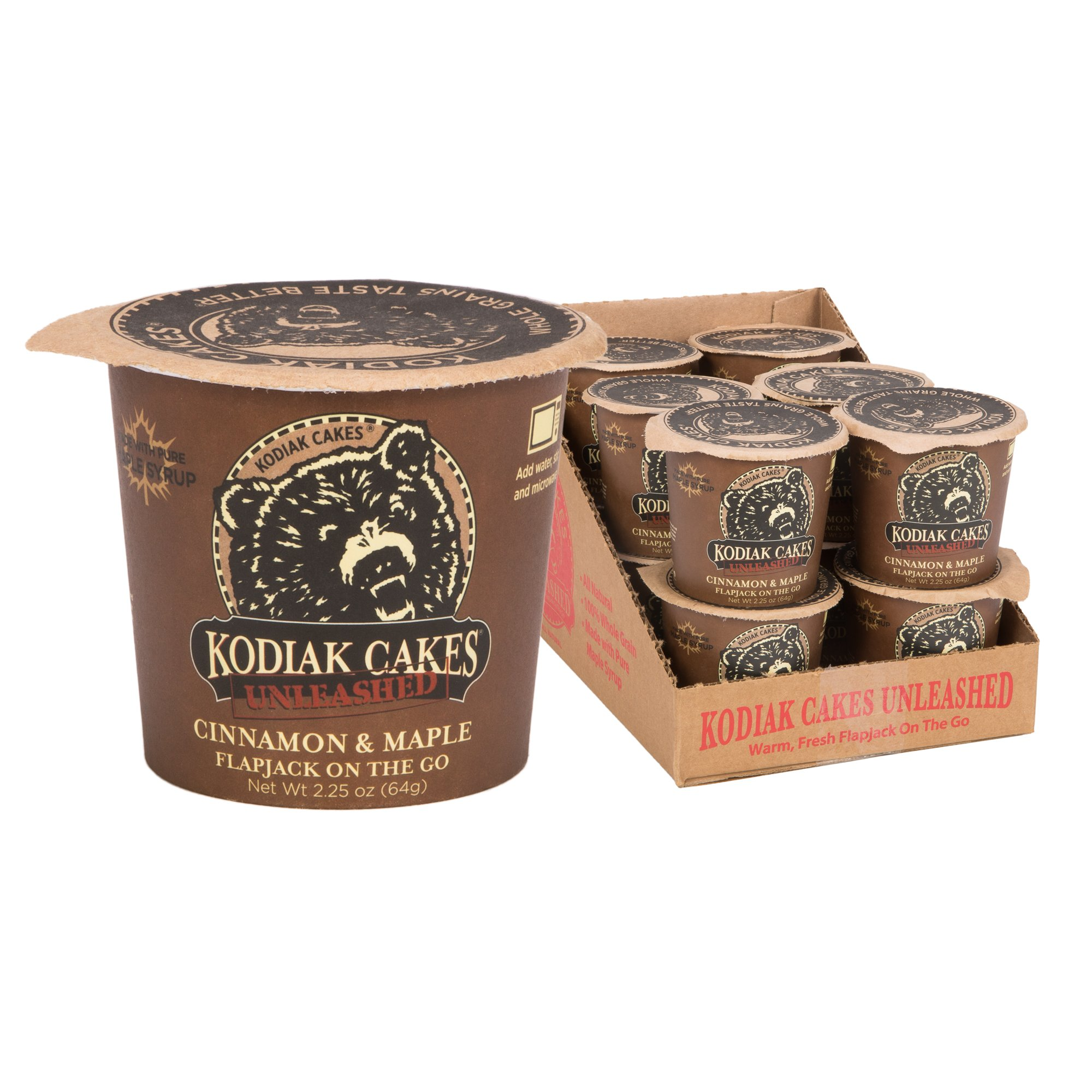Kodiak Cakes Pancake On the Go High Protein Snack, Cinnamon and Maple, 2.25 Ounce (Pack of 12)