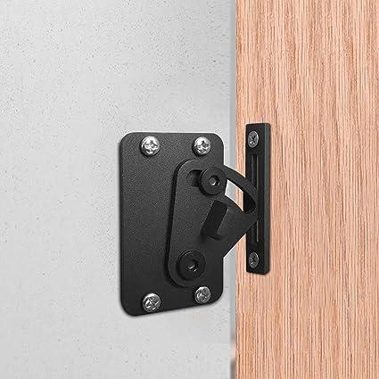 Charmant CCJH Sliding Barn Door Lock Gate Lock Pocket Wood Door Latches Black