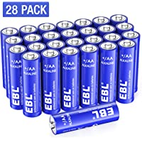 28-Pack EBL 1.5V AA Alkaline Battery