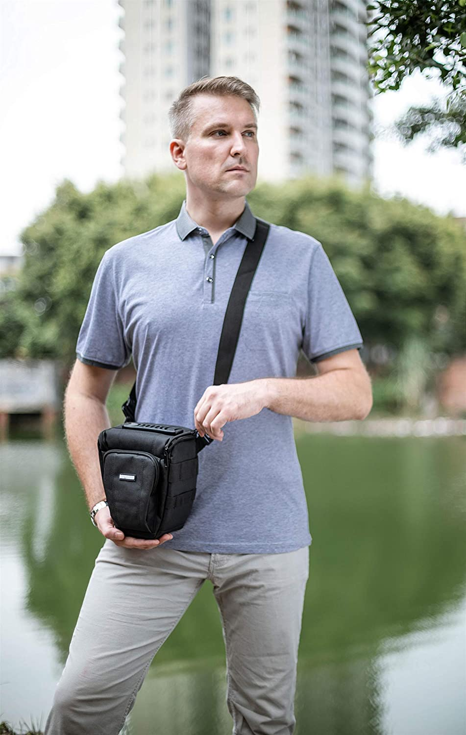 Bodyguard Colt Bag Photo Bag Mirror Reflex Colt Easy black suitable for Nikon D800 D3500 D5300 D5600 D7500 Canon EOS 2000D 4000D 750D 200D 77D 80D